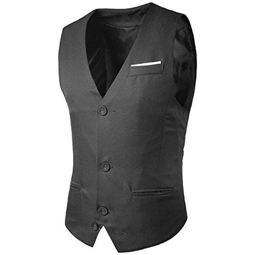 Mode Kämpfen Einzelne Reihe Von Herren-Herrklage Weste 2