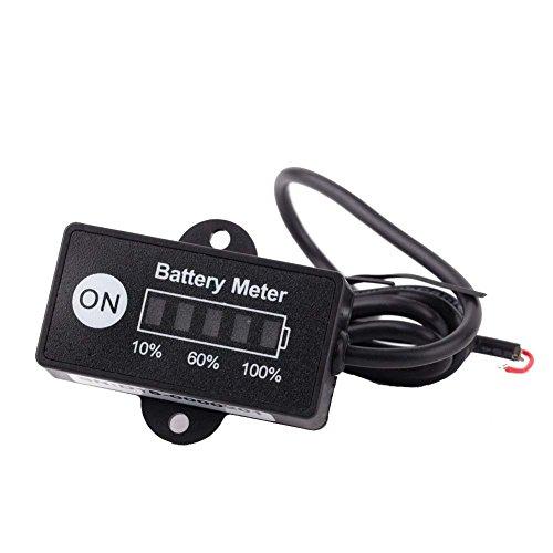 Aparatos de bateria - TOOGOO(R) LED Digital estado de bateria Monitor de indicador de carga Medidor de bateria 12V / 24V