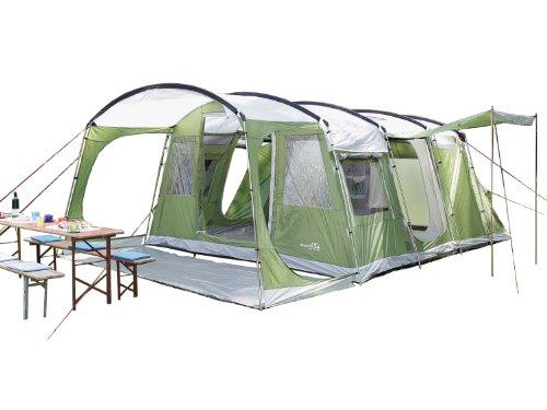 SKANDIKA Tienda de campaña, Zelt Saturn 6, Grã¼n, 655 x 410 cm, Verde/Blanco