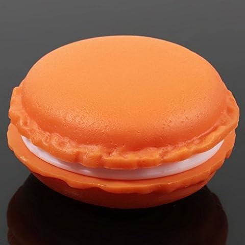 Mini Macaron Scatole di Gioielli Contenitore Storage Box Candy a forma di Sporcare gioielli pillola organizzatore Custodia da trasporto Borsa per orecchini, anelli, gioielli, confezione da 1, Verde, Giallo, Rosa, Viola, Arancione, Verde Menta Orange
