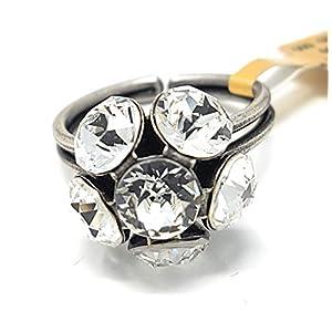 KONPLOTT Disco Balls Ring verstellbar, Glas weiß -5450527597036