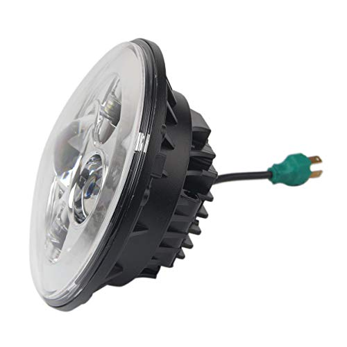 Automotive LED Scheinwerferlampe für Harley/Wrangler, 7 Zoll Motorrad Projektor H4 H13 Hallo/Lo LED Scheinwerfer Projektor mit Angel Eye Blinkerlicht