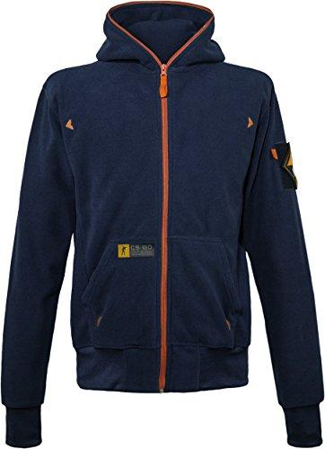 Musterbrand-Counter-Strike-Zip-Hoodie-Herren-Fleece-Jacket-Sweatshirt-Jacke-Blau