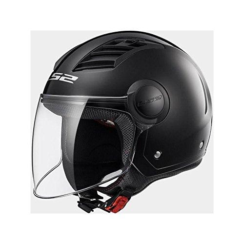 LS2 Casco Moto Of562 Airflow, Gloss Black Long, M
