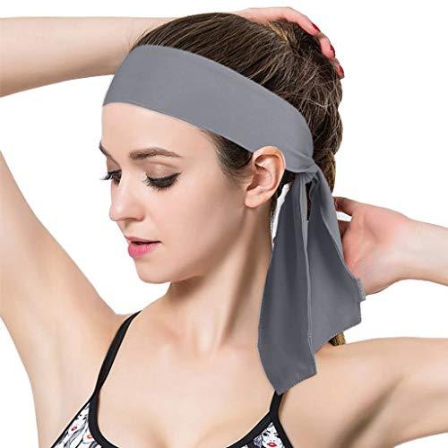 Damen Herren Kopftuch Absorbing Sweat Stirnband Atmungsaktiv Fitness Haarband Sport Yoga Bandage Kopfband Haarbänder Haar Accessoires Kopf Kopfbedeckung Laufen Joggen Tanz Turban Stirnbänder Schwarz - Tanz Erwachsene Sweatshirt