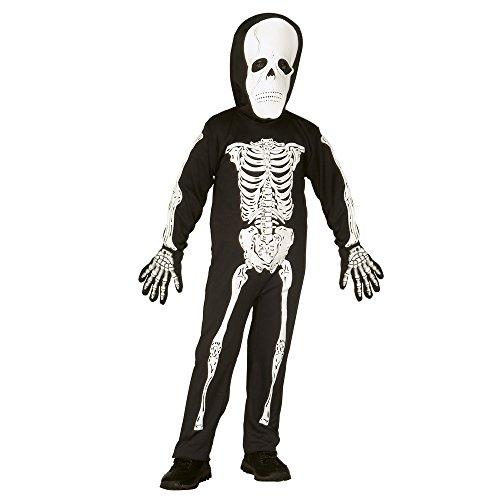 Widmann 4375S - Skelett, Kostüm für Kinder, mit Maske, Größe 110 / 116 (Skelette Kostüme)
