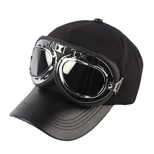 n Retro Fliegerbrille Baseballmütze Solid Cool wild Cap Topee ()