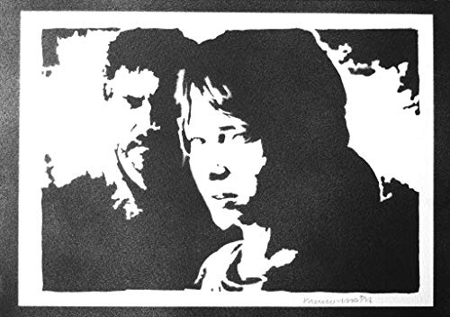The Last Of Us Ellie und Joel Poster Plakat Handmade Graffiti Street Art - Artwork (Playstation Ps4 Home)