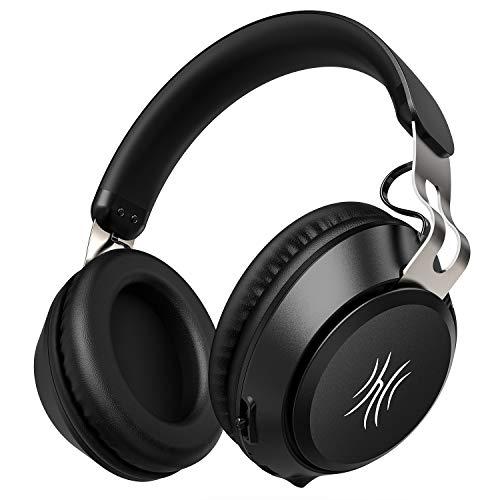 OneAudio Bluetooth 5.0 Kopfhörer, Kabellose Over Ear Kopfhörer mit eingebaute Mikrofon und Klarem Bass, Dual 40mm Treiber Verstellbare Blootooth Headset mit Soft Memory-Protein Ohrenschützer thumbnail