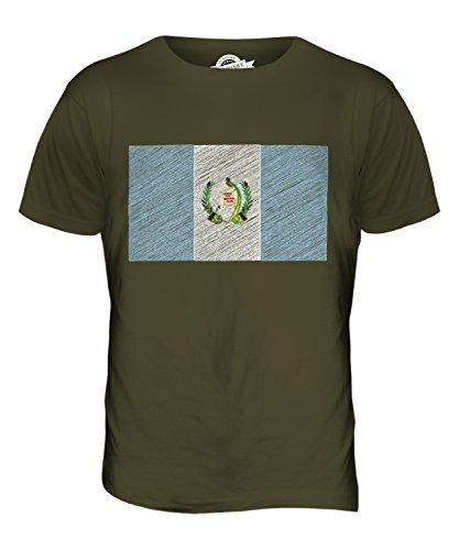 CandyMix Guatemala Bandiera Scarabocchio T-Shirt da Uomo Maglietta Verde oliva
