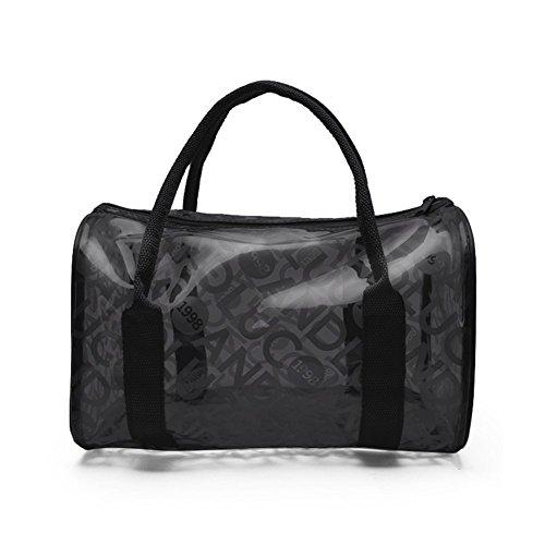 TININNA Moda Estate trasparente PVC Beach Tote Bags Gelatina Sacchetto Borsa per le ragazze donne Blu Nero