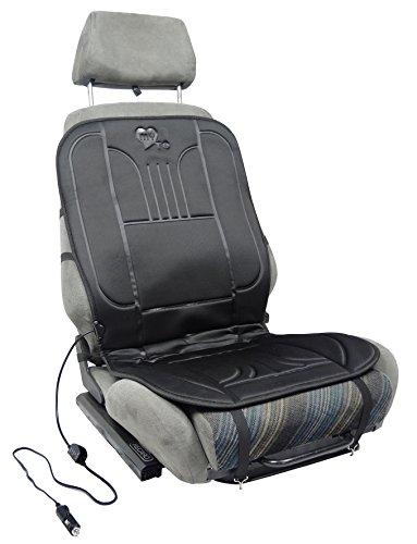Sitzheizung – beheizbare Sitz-Auflage 12V fürs Auto zum Nachrüsten | schnelle angenehme Wärme | MY HEATER TO GO | 2-stufiger Wärmeregler und Thermostat | das universal Heiz-kissen ist schnell montiert
