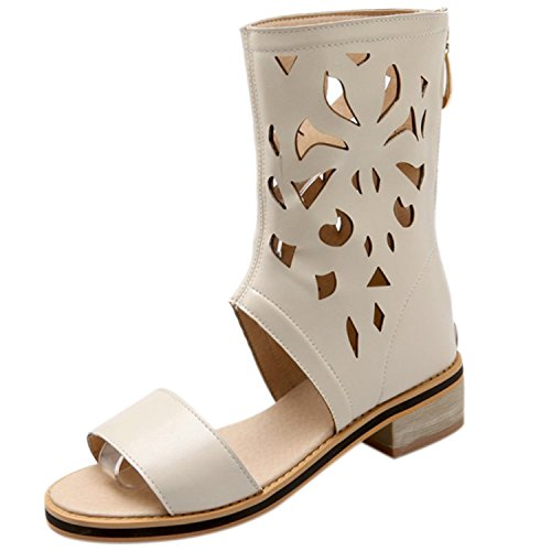 Azbro - Pantofole a Stivaletto Donna Beige