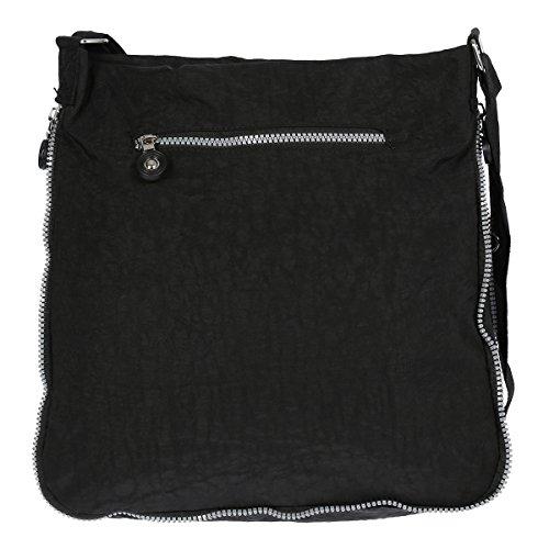 Christian Wippermann®, Borsa a spalla donna Nero grigio 33 x 30 x 9 cm nero