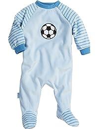 Playshoes Unisex Baby Schlafstrampler Schlafoverall Nicki Fußball