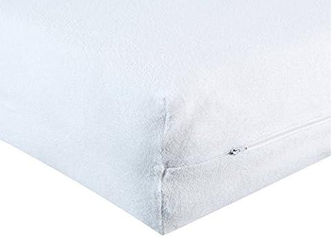BNP Housse de matelas en éponge confortable, avec ouverture latérale intégrale 80 cm x 200 cm blanc