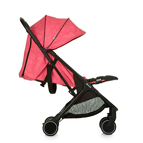 Hauck Swift One Hand, Compact Fold Pushchair with Raincover, Melange Pink/Black