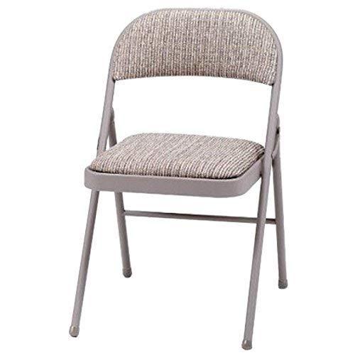 Luxuriöser Klappstuhl mit Stoffpolsterung und robustem Stahlrahmen, zusammenklappbar, mit Rückenlehne, für Zuhause, Garten, Büro, Schreibtisch