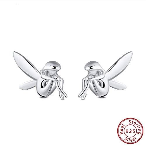 tecker Ohrhänger Original 100% 925 Sterling Silber Ohrstecker Frauen Fee Muster Romantische Silber Party Weiblichen Schmuck Geschenke ()