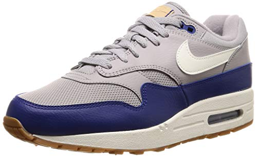 Nike Herren Air Max 1 Fitnessschuhe, Mehrfarbig (Atmosphere Grey/Sail/Deep Royal Blue 008), 46 EU (Max Air 1)