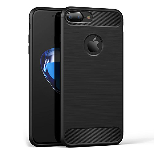 Iphone Hülle Case, Soft-Flex Silikon Capsule Premium TPU Handyhülle Schutzhülle Schmaler Telefonschutz für das iPhone 7 7 Plus 6s 6 Plus (iPhone 6s/6, Schwarz) Schwarz