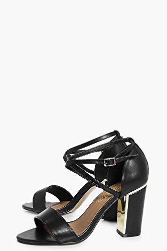 Schwarz Damen Sophia Zweiteilige Sandalen Mit Blockabsatz Schwarz