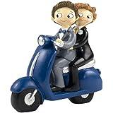 Mopec Y830 - Figura de pastel pareja de novios pop & fun chicos, 17 cm