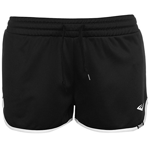 Everlast Damen Shorts Kurze Trainingshose Hose Sporthose Trainingsshorts Schwarz 10 (S) (Everlast Baumwoll-shorts)