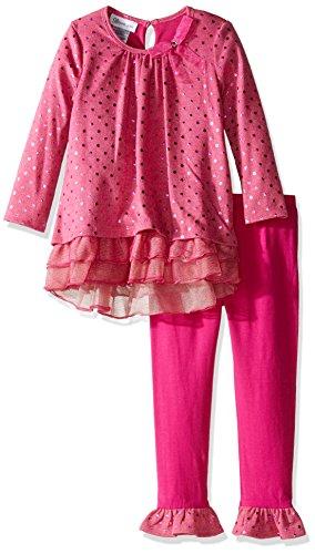 Bonnie Jean Mädchen Fashion Legging Set Kleid, Playwear - rosa - Bonnie Jean Capri-jeans