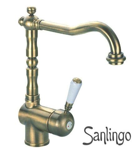 nostalgia-cucina-rubinetto-monocomando-miscelatore-sanlingo-oro-antico-ottone