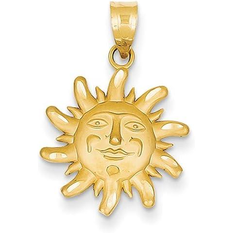 Icecarats Designer Di Gioielli Con Diamanti 14K Taglio Piccolo Charm Sole