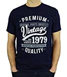 1979 Vintage Year - Aged To Perfection - Regalo di Compleanno Per 40 Anni Maglietta da Uomo Blu Marino S