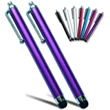 pm0503x2 First2savvv purple Touch screen stylus pen for apple iPhone 5C/5S & Samsung galaxy note 3 ,Galaxy NotePRO 12.2 ,Galaxy NotePRO 10.1,Galaxy NotePRO 8.4 SM-P900 & ipad mini & new ipad 3 & ipad 2 & ipad 4 with retina display &Apple iPad air