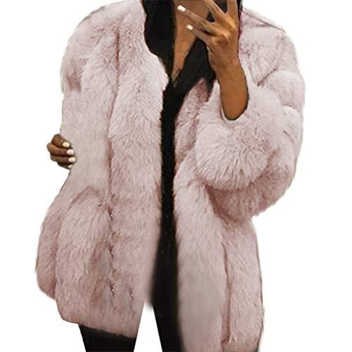 Cappotto donna pelliccia sintetica visone parka cappotto cammello invernale moda spesso manica lunga cappotto in peluche