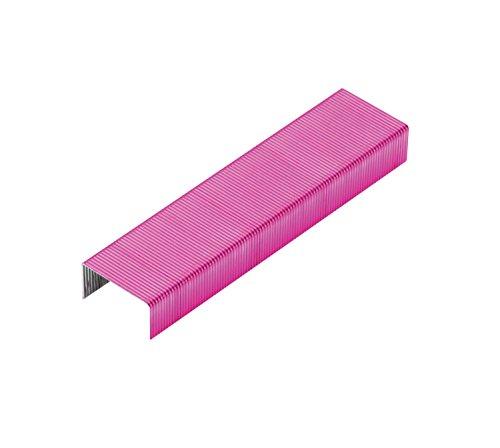 Rexel Nummer 56 Heftklammern, Größe Nr. 56, 2000 Stück, pink