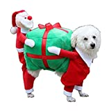 SLHP Haustierkostüm Red Warm Christmas Pet Plüsch Santa Kostüm Weihnachten Kleine Hunde Katzen Weihnachtsmannkostüm Festivals Parteien Bekleidung Zubehör (M)