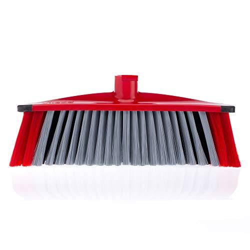 Vileda 3Action Besen - Kombination von 3 Borsten - für Staub, groben Schmutz & Haare und für Ecken