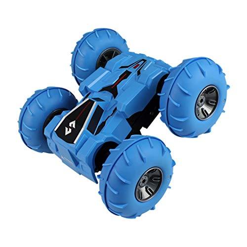happy event 2,4G 4WD High-Speed Stuntkipper giocattolo telecomandato double-face auto regali, Blu