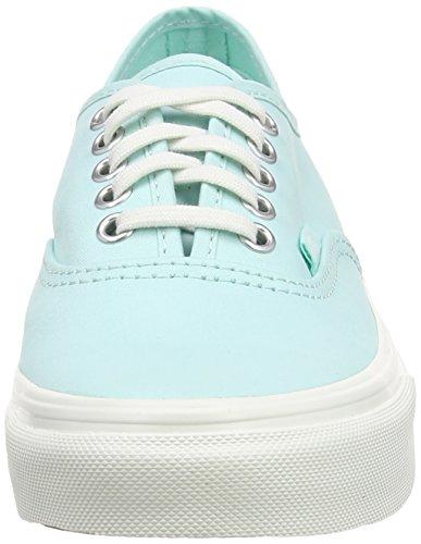 Vans Authentic Slim Scarpe da Ginnastica Basse, Unisex Adulto Verde (brushed Twill/Blue Light/blanc De Blanc)