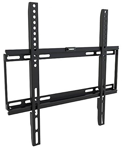 Ricoo ® F0144 Support pour fixation murale d'écran TV, LED, LCD ou TFT de 66 à 127 cm de diagonale, 25 mm d'épaisseur