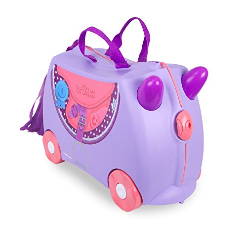 Trunki Ride-On Suitcase Children's Luggage, 18 Litres, Lilac