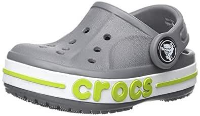 crocs Unisex's Bayaband Clogs K Charcoal 6 Kids UK (C6) (205100-025)
