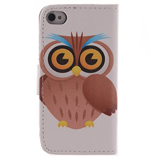 Nutbro [iPhone 4S] 4S Case,Leather iPhone 4S Case,iPhone 4S Phone Case,iPhone 4S Phone Cover Case PU Leather Case Wallet for iPhone 4/4S ZZ-4S-22
