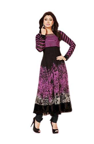 Crazy Women's Party Wear Anarkali Semi Stitched Gown For Women (Purple2)