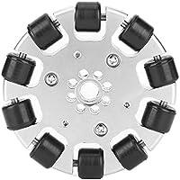 Rueda omnidireccional de 3 pulgadas, rueda universal omnidireccional con rodillos de goma de 10 piezas Piezas de robots industriales