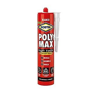 Bostik Poly Max high Tack Express d6118, Kleber für Montage und Dichtungsmittel Universal, 435gr, weiß