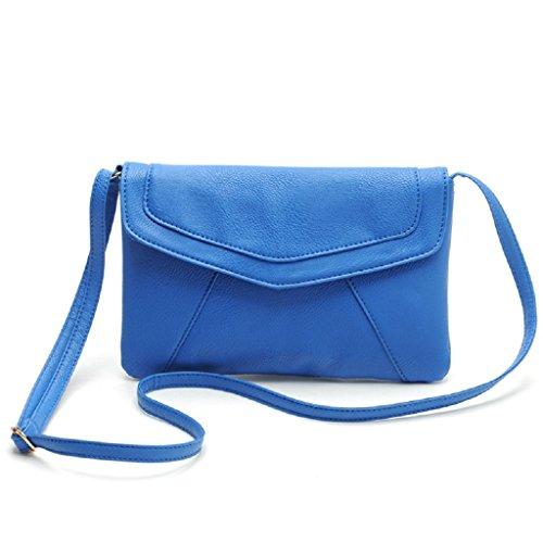 Vovotrade® Busta delle donne Satchel Crossbody Borse Borse dell'annata (marrone) blu