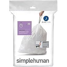 Simplehuman CW0169 - Bolsas de basura (código J, 20 unidades, 38-40 L)
