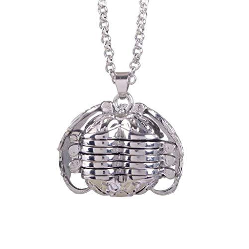 Masoness  silbernes personalisiertes kundenspezifisches Foto-Anhänger-Flügel-Halsketten-Medaillon, Halskette für Schicht-Halskette kann 5 Fotos halten