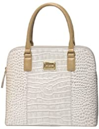 LA ROMA CROCO PRINTED GENUINE LEATHER HANDBAG